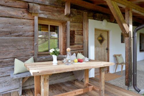 Selbstversorgerhaus Vorderes Zillertal 3 - App. 2 Terrasse