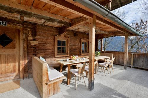 Selbstversorgerhaus Vorderes Zillertal 3 - App. 1 Terrasse