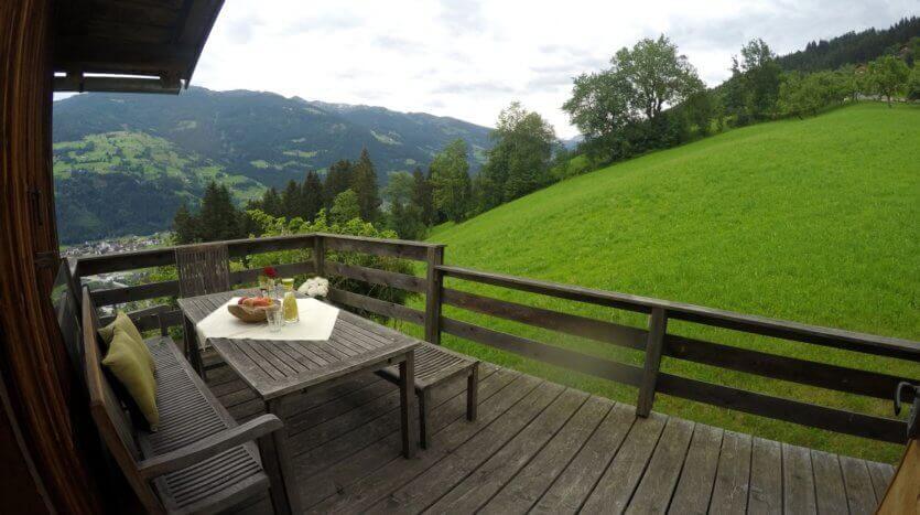 Berghütte Mittleres Zillertal - Terrasse