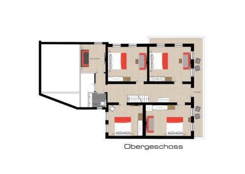 Ferienhaus Mittleres Zillertal 2 - Ganze Unterkunft - Grundriss EG